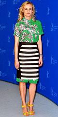 Diane Kruger Oreintal/Monochrome Outfit