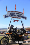 we did it - 2.288 km auf dem Alaska Highway