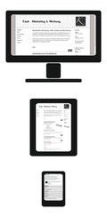 Computer, Tabelt-PC und Smartphone