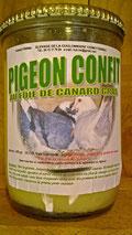 Verrine de pigeon fourré au foie gras