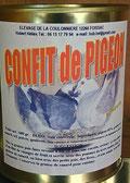 Confit de pigeon à la graisse de canard parfumé au genièvre