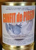Confit de pigeon à la graisse de canard