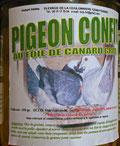 Pigeon fourré au foie gras de canard et confit dans la graisse de canard