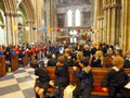 The launch in Pershore Abbey