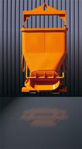 Cubo para hormigón para moldes