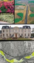 Mixe de photos fôret chateau et base de loisir
