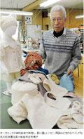 オーガニックの綿を自前で栽培し、肌に優しいベビー用品などを作るマインド松井の松井要社長=岐阜市古市場で