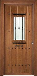 Puerta entrada aluminio rústica Vizcaya
