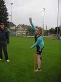 Learning the overarm bowling technique
