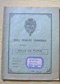 Cahier de l'école primaire communale vers 1954