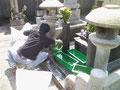 お寺ボランティアでお墓の掃除