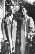 Mit seinem Vetter Karlheinz Corswandt