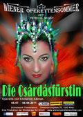 Plakat von Wiener Operettensommer - Csárdásfürstin