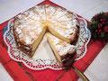 Käsekuchen mit Mandelkruste