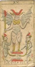 XV Le Diable - Tarot de Besançon de Renault