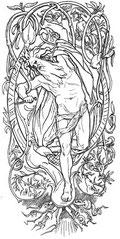 Le sacrifice d'Odin - Lorenz Frølich - 1895