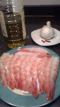 Ingredientes de las gambas al ajillo