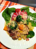 野菜たっぷり レシピ 野菜10品目 サワークリーム 鶏肉 野菜