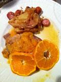 鶏肉 オレンジソース ソテー