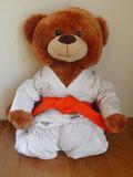 Ist seit heute aktives Mitglied der Sportgemeinschaft Gierath: Benny der Judobär