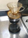 氷だしコーヒー抽出過程