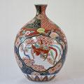 赤濃木甲桐紋花瓶