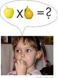 Mädchen mit Sprechblase