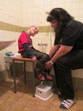 Badewannentraining an der Herderschule