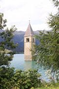 Graun - Kirchturm im See