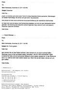 Schriftwechsel mit Photovoltaik, 23.11.2011