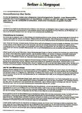 """Berliner Morgenpost, """"Sonnenfinsternis über Berlin"""", 27.2.2012"""
