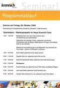 Krannich Solar Seminar: Programmablauf, 9.10.2009