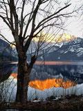 Der Körper ist der Ort des psychischen Geschehens (Sylvia Cserny); Trisselwand spiegelt sich im Altausseersee