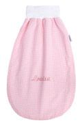 Strampelsack Vichykaro rosa, personalisiert