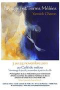 Affiche de l'exposition de Yannick Charon au café du métro