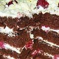"""Торт """"Шоколадный с малиной"""""""