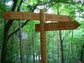 Wegweiser im Nationalpark Eifel