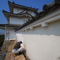 明石城土塀補修(漆喰塗り)
