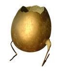 Iwona Borkowska: Das goldene Ei, Plastik, 2011