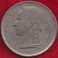 MONEDA BÉLGICA - KM 142.1 - 1 FRANCO BELGA (BELGIQUE) 1.952 - COBRE - NíQUEL (BC/VG) 0,50€.