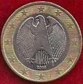 MONEDA ALEMANIA - KM 213 - 1 EURO - 2.003 (J) CUPRONÍQUEL - LATÓN - BIMETÁLICA (MBC/VF) 1,75€.