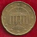 MONEDA ALEMANIA - KM 211 - 20 CÉNTIMOS DE EURO - 2.002 (A) ORO NÓRDICO (MBC/VF) 0,50€.