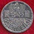 MONEDA AUSTRIA - KM 2878 - 10 GROSCHEN - 1.981 - ALUMINIO (EBC-/XF-) 0,60€.