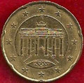 MONEDA ALEMANIA - KM 211 - 20 CÉNTIMOS DE EURO - 2.003 (F) ORO NÓRDICO (MBC/VF) 0,90€.