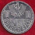 MONEDA AUSTRIA - KM 2878 - 10 GROSCHEN - 1.986 - ALUMINIO (EBC-/XF-) 0,60€.