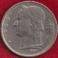 MONEDA BÉLGICA - KM 143.1 - 1 FRANCO BELGA (BELGIE) 1.969 - COBRE - NíQUEL (MBC+/VF+) 0,75€.