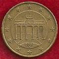 MONEDA ALEMANIA - KM 210 - 10 CÉNTIMOS DE EURO - 2.002 (F) ORO NÓRDICO (MBC/VF) 0,50€.