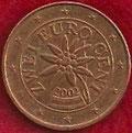 MONEDA AUSTRIA - KM 3083 - 2 CÉNTIMOS DE EURO - 2.002 - ACERO - COBRE (EBC-/XF-) 0,60€.