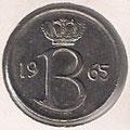 MONEDA BÉLGICA - KM 153.1 - 25 CÉNTIMOS (BELGIQUE) 1.965 - COBRE - NíQUEL (EBC-/XF-) 0,60€.