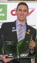 Andreas Vojta war in den letzten 6 Jahren 4 x Gesamtsieger und 2 x Zweiter bei der ÖLV-Athletenwahl (Bild von der Ehrung für 2012)